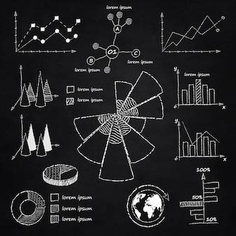 Diagrammes infographiques à la craie
