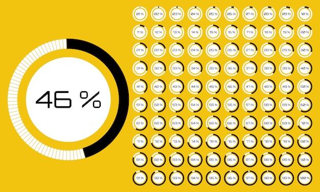 Diagrammes en pourcentage tableau de cercle à rebours numérique