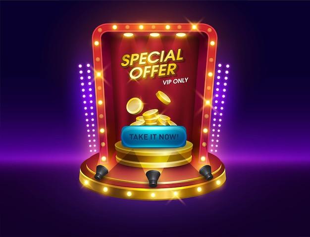 Dialogue casino machines à sous jeux interfaces de jeu podium offre spéciale pop