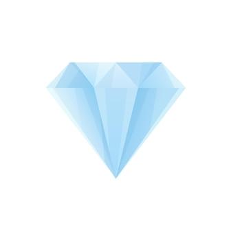 Diamant bleu dans un style réaliste