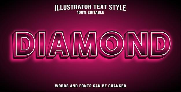 Diamant effet texte modifiable