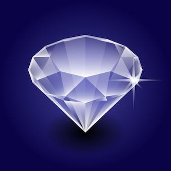 Diamant isométrique pierre précieuse en fond sombre