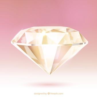 Diamant réaliste magnifique