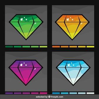 Diamonds dans la collecte différents couleurs
