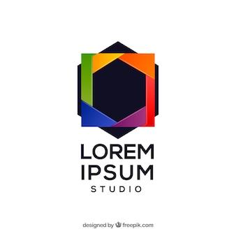 Diaphragme photographie logo en couleurs