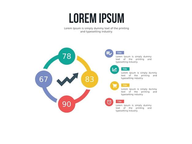 Diapositive de présentation avec infographie d'entreprise