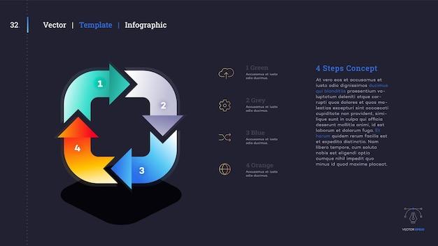 Diapositive de présentation infographique minimaliste