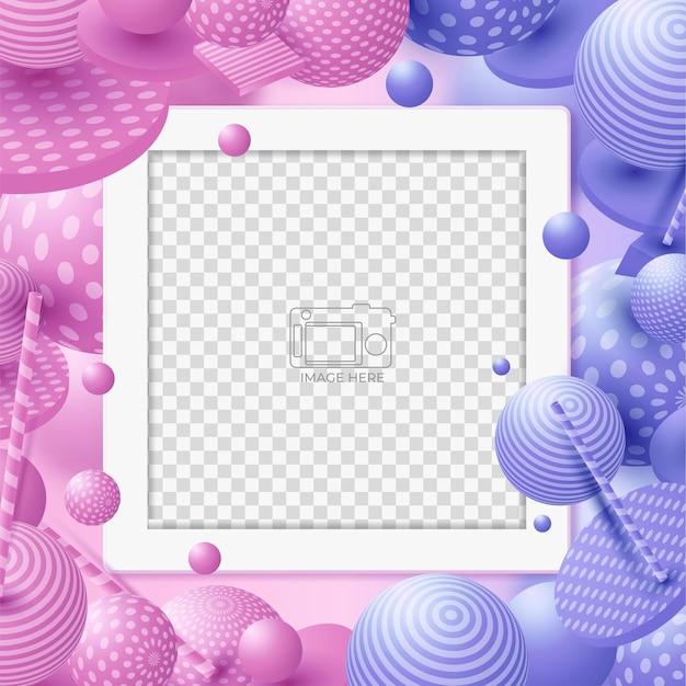 Diapositives abstraites modèle unique de bannière de médias sociaux moderne modifiable. tout le monde peut utiliser cette conception facilement. bannière web promotionnelle pour les médias sociaux.