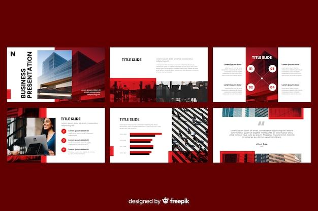 Diapositives de présentation d'affaires avec photo