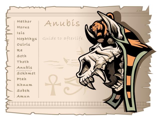 Dieu anubis, guide de l'au-delà
