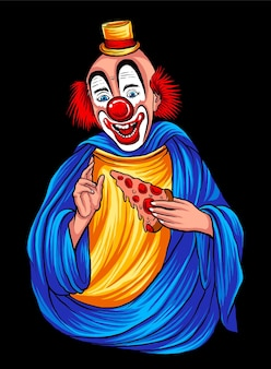 Dieu clown heureux illustration vecteur