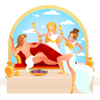 Dieu du vin dionysus ou bacchus proposant un toast