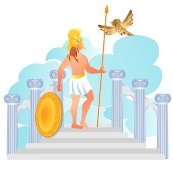 Dieu grec de la guerre ares ou mars fils de zeus et d'héra