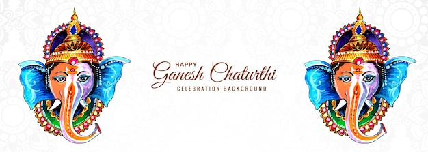 Dieu hindou ganesha pour la conception de la bannière du festival happy ganesh chaturthi