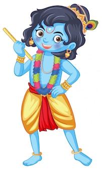 Dieu indien sur blanc