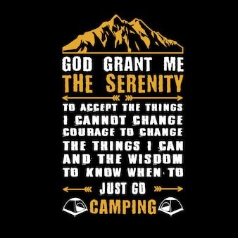 Dieu m'accorde la sérénité