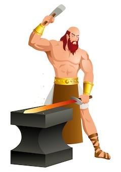 Dieux grecs et déesse héphaïstos