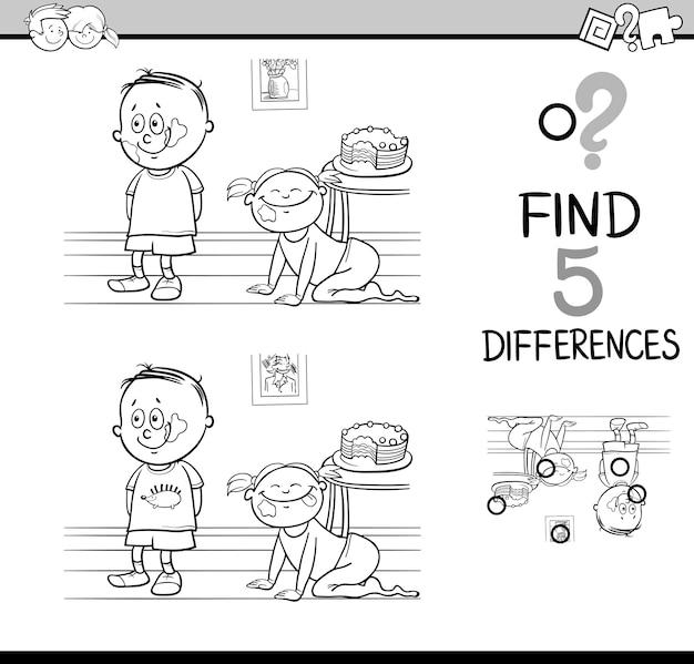 Différences coloriage d'activité