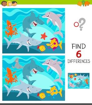 Différences entre les images jeu éducatif