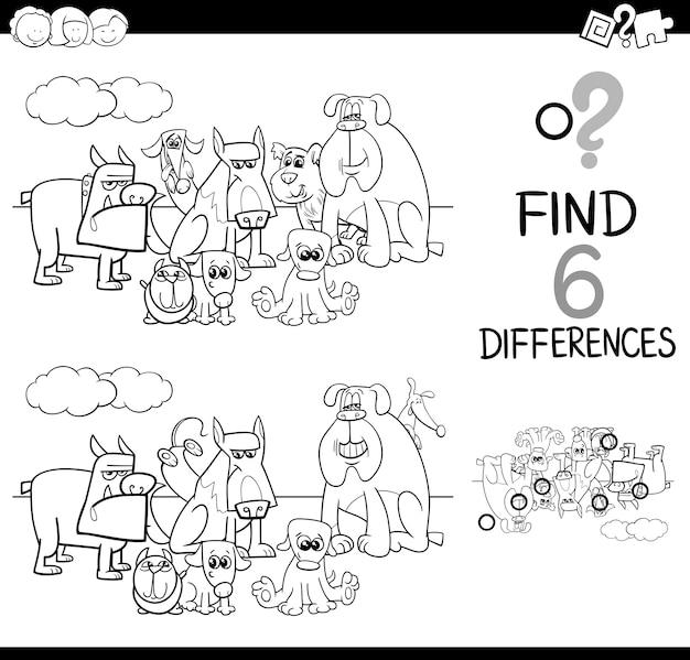 Différences jeu coloriage