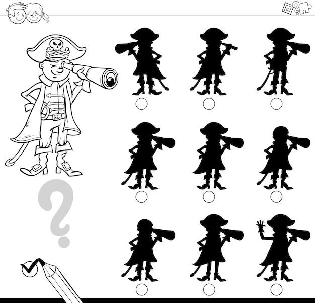 Différences d'ombres avec pirate