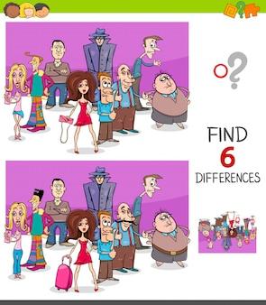 Différences tâche éducative pour les enfants avec des personnes