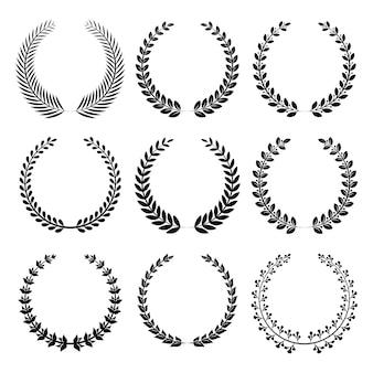 Différent de la collection de couronnes circulaires