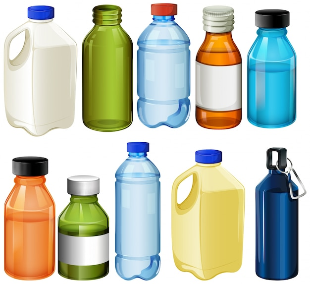 Différentes bouteilles