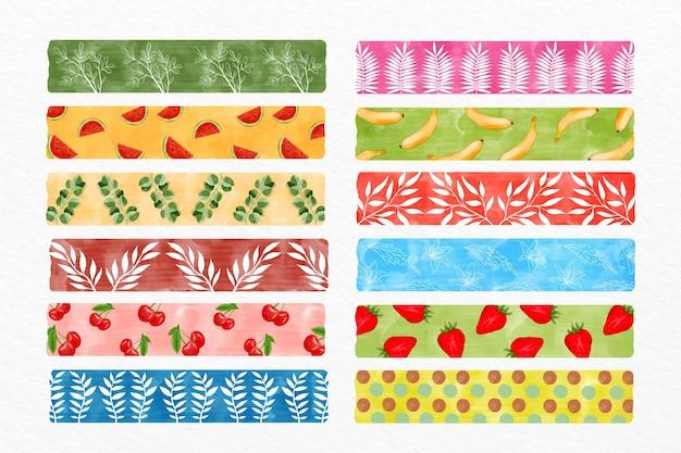 Différentes collections de bandes washi