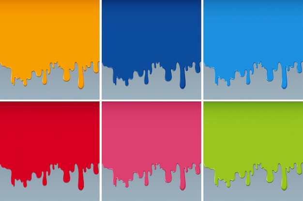 Différentes couleurs peintes sur les murs
