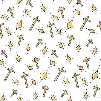 Différentes couronnes dans le style doodle et croquis.