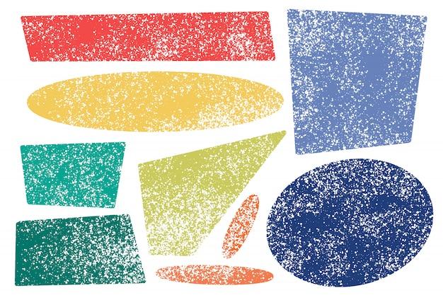 Différentes formes texturées pour les fonds.