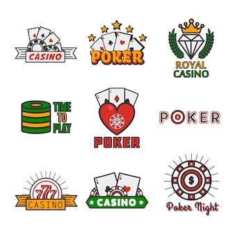 Différentes icônes de casino