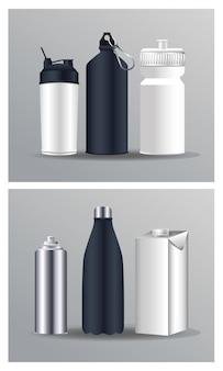 Différentes marques de produits d'emballage de bouteilles