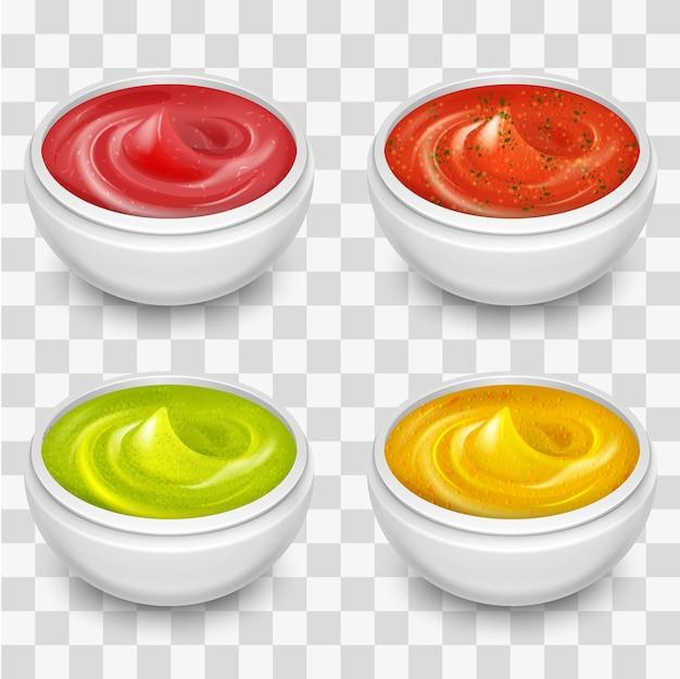 Différentes sauces gastronomiques