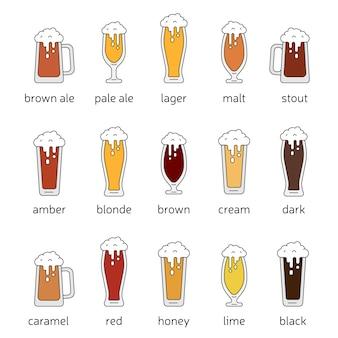 Différentes sortes de bières
