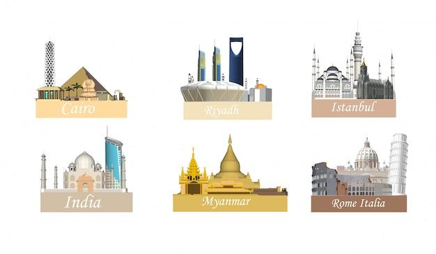 Différentes villes