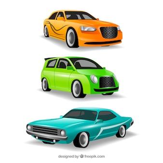 Différentes voitures dans différentes vues