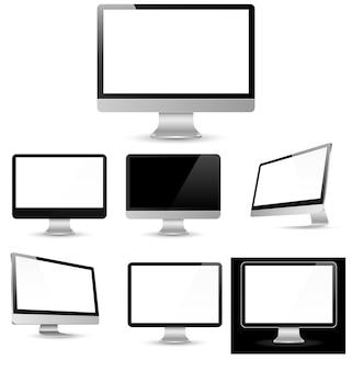 Différents écrans d'ordinateur