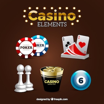 Différents éléments de casino