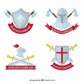 Différents emblèmes de chevalier
