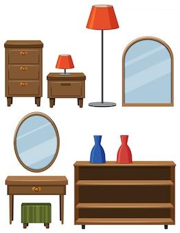 Différents meubles en bois