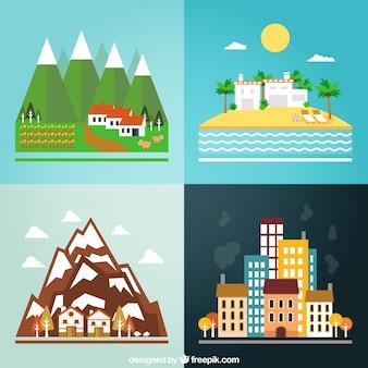 Différents paysages