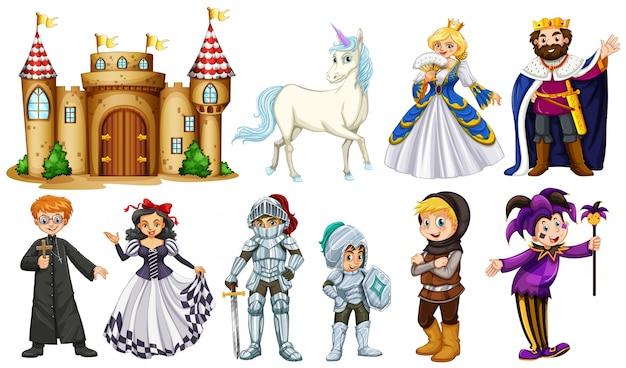 Différents personnages de contes de fées