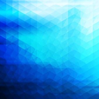 Différents tons de fond polygonale bleu