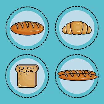 Différents types d'autocollants de pain