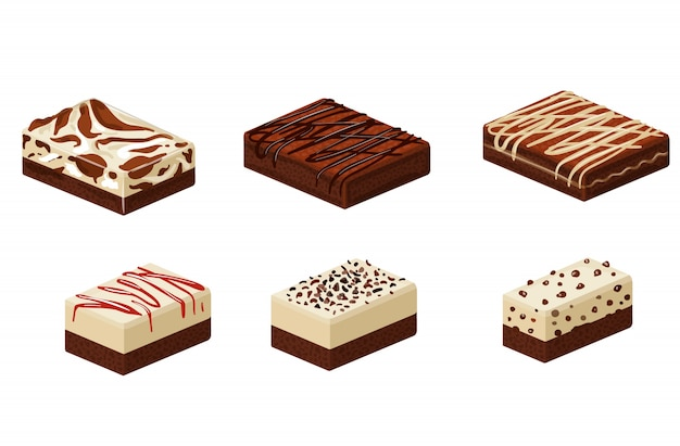 Différents types de brownies