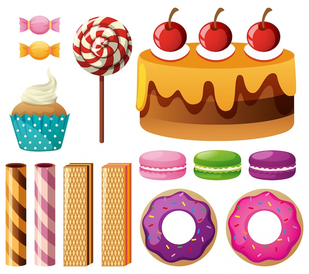 Différents types de desserts