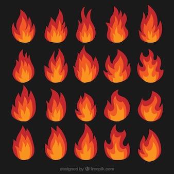 Différents types de flammes