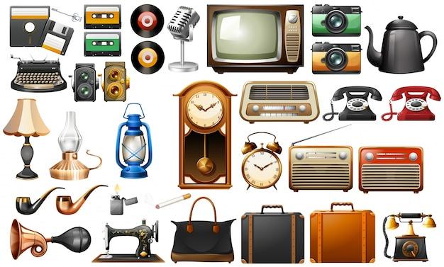 Différents types d'illustration d'antiquités